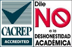 Logo de CACREP y Dile NO a la Deshonestidad Academica